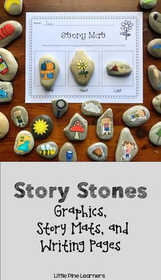 Story Stones for Writing and Storytelling Crafts To Make And Sell, Easy Diy Crafts, Crafts For Kids, Outdoor Activities For Kids, Toddler Activities, Literacy Activities, Literacy Bags, Painted Rocks Kids, Story Stones