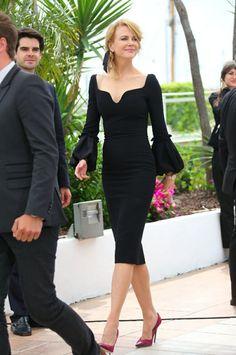 Nicole Kidman et sa petite robe noire à Cannes