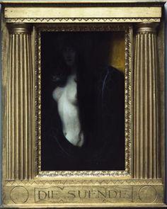 Sin - 1893, Franz von Stuck (1863-1928) /  Neue Pinakothek, Munich