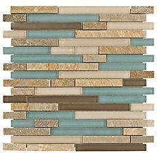 Santiago Mix Stick Glass and Stone Mosaic