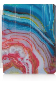 Agate printed magnetic iPad cover