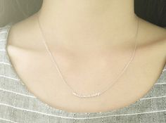 NL101 / Matt Gold or Silver / Make Me Happy Necklace by BeadsPool