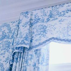 More toile fabric... this time appearing as a window treatment