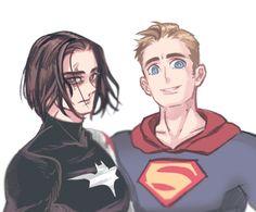 Batman bucky and superman Steve