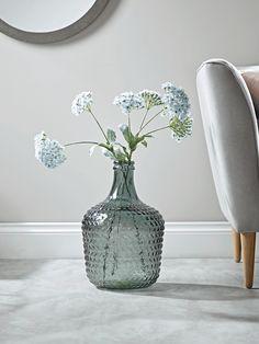 NEW Embossed Glass Vase