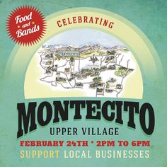 Feb. 24, 2 p.m to 6 p.m. Boutique shopping, complimentary food tastings, live music, kids activities and much more at various locations in the #montecito upper village! Be there!