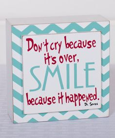 Look what I found on #zulily! Blue 'Smile' Wall Sign #zulilyfinds