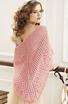 Helen Bingham Designs in Vogue Knitting Spring/Summer 2012 - Way to go Helen! Knitted Shawls, Crochet Scarves, Crochet Shawl, Knit Crochet, Free Crochet, Crochet Pattern, Free Pattern, Vogue Knitting, Lace Knitting