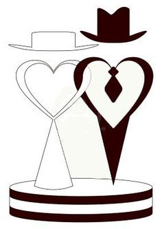 Hearts Wedding Vector Images (over - Page 3 Wedding Silhouette, Silhouette Art, Wedding Cards, Diy Wedding, Wedding Symbols, Gravure Laser, Drawing Tutorials For Beginners, Wedding Illustration, Wood Burning Patterns