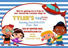 Little Einsteins Going on a Mission Birthday Invitation by anas129