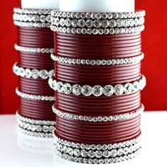 personalize suhag chura bangle colour maroon  size-2.4,2.6,2.8,2.10