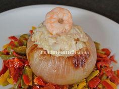 Receta de cebolla rellena de pescado - Cocineando