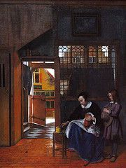 Painting by Pieter de Hooch, Dutch 1660-1663 www.artexperiencenyc.com