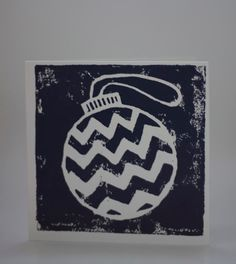 5 pack of Hand printed square Christmas cards (lino-cut)