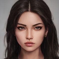 Digital Art Girl, Digital Portrait, Portrait Art, Character Portraits, Character Art, Aesthetic Drawing, Character Aesthetic, Face Art, Cartoon Art