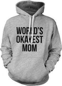 Funny Novelty Sweatshirt Jumper Top Worlds Okayest Dad