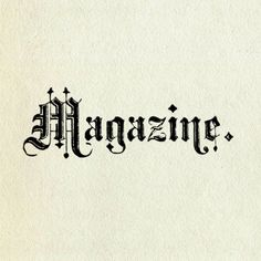 Vintage sign. Magazine.