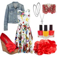 spring fling, created by krispardue on Polyvore