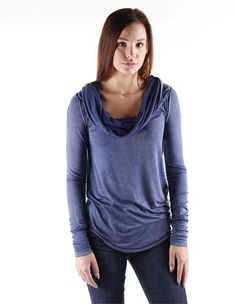 Free People Cosmo Cowl in Navy