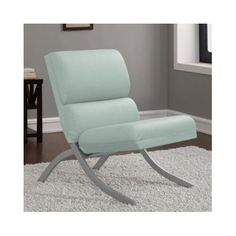 Bonded Leather Aqua Blue Office Dining Living Room Furniture Accent Chair for Instant Burst of Color to Update Your Room Look and Feel *** Continue to the product at the image link.Note:It is affiliate link to Amazon.