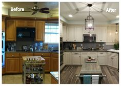 From a dark oak kitchen to a bright and  beautiful  kitchen