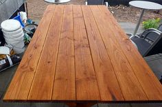 Gartentisch selber bauen. Garden table self made.