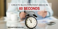 Another cool way to brainstorm content! http://drlisamthompson.com/blog-content-ideas/