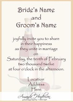 Contemporary Invitation Wording Bride and Groom Host Wedding