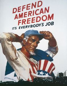 Uncle Sam Defend American Freedom It's Everybody's Job WWII War Propaganda Art Print Poster 13 x Defend American Freedom Its Everybodys Job WPA War Propaganda Poster Ww2 Posters, Protest Posters, Political Posters, Political Opinion, Noam Chomsky, Ww2 Propaganda, American Freedom, American Flag, American Pride
