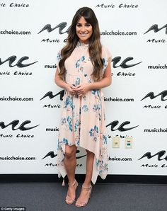Gorgeous: Lea Michele was the personification of pretty in New York City on Thursday