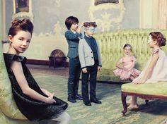 Catalogue Dior enfant, AW14, par Foveadesign. Photos: Karel Balas. Direction artistique: Isis-Colombe Combréas. Style: Mélanie Hoepffner.