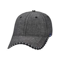 8058b0b315821 Women s Keds Chambray Baseball Cap - Black Chambray featuring polyvore