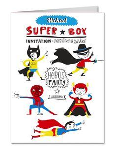 Anniversaire enfants sur pinterest invitations masques de super h ros et costumes de super - Carte anniversaire super heros ...