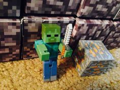 Minecraft zombie Toys Land, Nintendo 64, Creepers, Minecraft, Kitchen, Ideas, Art, Walking Dead Coral, Nuthatches