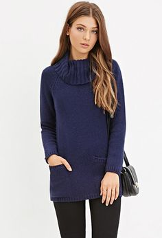 Wool-Blend Turtleneck Sweater | Forever 21 - 2000181186-in the Heather Grey color though.