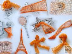 Victor Nunes- desenhos faceis de fazer só com uma rede laranja.