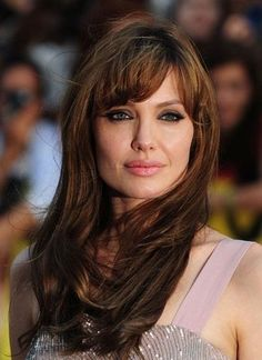 angelina jolie bangs, pretty hair
