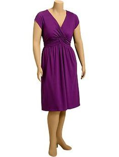 Women's Plus Shirred Jersey Dresses | Old Navy#