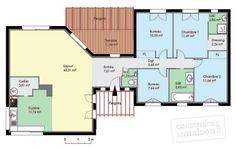 Plan Rez-de-chaussée - maison - Maison de plain-pied BBC