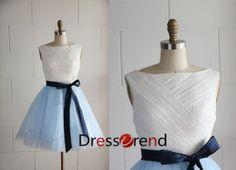 Short Blue Bridesmaid Dress - Short Bridesmaid Dresses / Blue Prom Dress / Short Prom Dress / Blue Party Dress on Etsy, $109.99