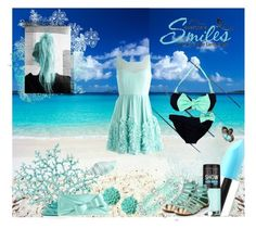coral blue by katie-styles4u on Polyvore featuring beauty, Lime Crime, Maybelline, Dollydagger and Kate Spade