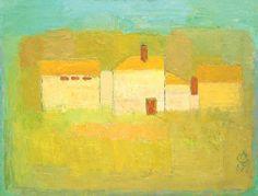 Alexandru Ciucurencu, yellow, house, art Post Impressionism, Impressionist, Frasier Crane, Bucharest, Auction, Postwar, House Art, February 2016, Contemporary