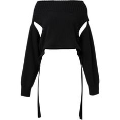 Dorothee Schumacher Perfect Ease Wool Cashmere Pullover (7.458.545 IDR) ❤ liked on Polyvore featuring tops, sweaters, blouses, black, wool sweater, cashmere sweater, woolen sweater, off-shoulder tops and long sleeve tops