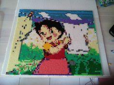 Heidi hama perler beads (3x3 pegboards) by by juliettelili