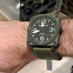 Bell & Ross Military Ceramic BR-03-92 Aviation Automatic Watch by