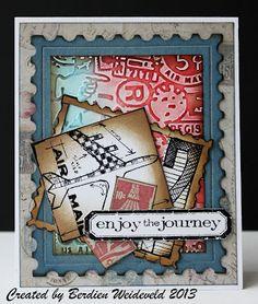Scrap from Bemmel: Enjoy the journey card http://scrapfrombemmel.blogspot.com/2013/03/enjoy-journey.html