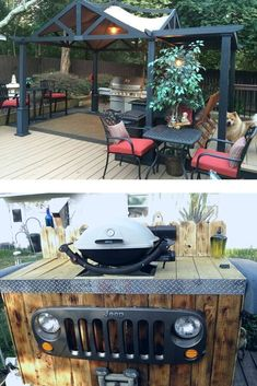 Learn how to build an outdoor kitchen on a budget. Easy outdoor upgrade with these inexpensive outdoor kitchen ideas. 22 DIY outdoor kitchens for your small backyard or big yard. Build Outdoor Kitchen, Outdoor Kitchen Design, Outdoor Kitchens, Outdoor Spaces, Handmade Home Decor, Diy Home Decor, Diy Outdoor Furniture, Outdoor Decor, Outdoor Sinks