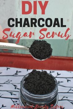 This DIY Charcoal Sugar Scrub is amazing for exfoliating, unclogging pores, and removing toxins. Three simple ingredients: you're on your way to better skin