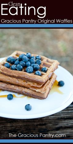 The Original Gracious Pantry Waffle  #Clean eating breakfast  Will try with almond milk