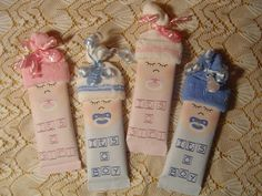 IT'S A BOY, IT'S A GIRL SHOWER FAVORS,  GIFT TOPPER, BABY SHOWER FAVOR, CIGAR ALTERNATIVE BIRTH ANNOUNCEMENT. $2.00, via Etsy.